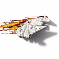 Abajur De Parede Star Wars Millennium Falcon 3d Light Fx