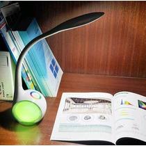 Luminária De Mesa Leitura Haste Flexível Botão Touch 34 Leds