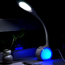Luminária De Cabeceira Haste Flexível Botão Touch 34 Leds