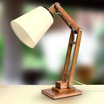 Abajur Luminária Madeira Articulado Rústico Mesa - Gda