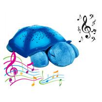Luminária Projetor De Estrelas Tartaruga Azul Musical