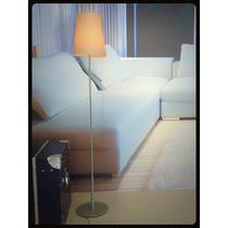 Abajur Coluna De Chão Moderno Cinza Para Sala Ou Quarto