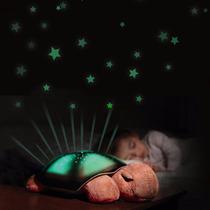 Luminaria De Estrelas Com Led Tartaruga Luz E Som Musica