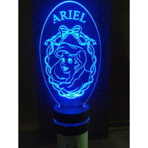 Luminária De Tomada Infantil, Princesa Ariel Personalizada