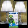 Abajur Toque Par Vidro Cristal Lâmpada Econômica Philips