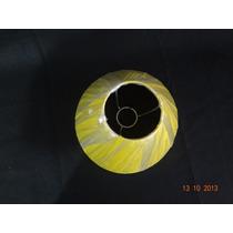 Cúpula Para Abajur 1 Pç Luminária E Cabeceira Amarela