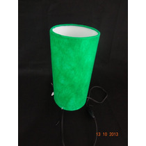 Mini Abajur Com Pé - Luminária De Cabeceira Verde