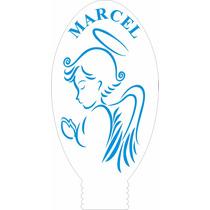 Luminária Mini Infantil De Tomada Anjo Rezando Personalizado