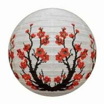 Luminária Sakura Japonesa Chinesa Oriental Bola 30cm Hachi8