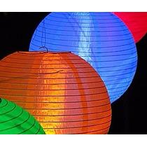 18 Luminária Nylon Japonesa Chinesa Oriental Lanterna Hachi8