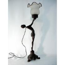 Abajur Luminária Escultura Bailarina Original Art Déco Dec30