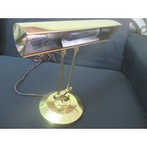 Luminária De Piano Ou De Mesa Em Latão (xerife) Usa Anos 70