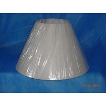 Cúpula P/ Abajur Luminária Branca 15 X 30 X 19 Tnt 5 Pç.