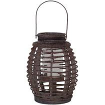 Lanterna Saigon Mini Em Madeira Marrom