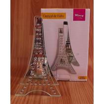Castiçal De Vidro Torre Eiffel , Suporte, Porta Velas