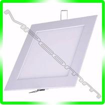 Painel Plafon Luminaria Led Embutir Ultra Slim 18w Quadrado
