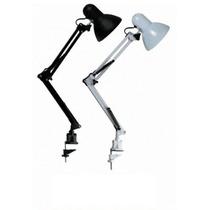 Luminária De Mesa Articulável C/ Garra. P/ Escritório Estudo