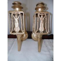 Par De Arandelas Francesas De Bronze E Cobre