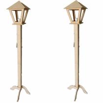 2 Luminaria Poste De Chão Abajur Para Sala 1,5m