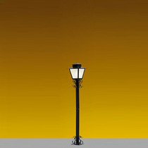 Poste Luminária Jardim Colonial 1,25m Ideal P7 - Cor Preta