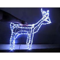 Rena Iluminada De 196 Leds Azul Lampadas Decoracao De Natal
