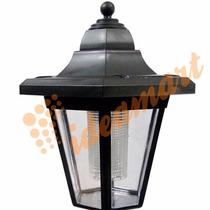 Luminária Led Solar Jardim Poste Pvc Preto 1391 - Ec23184