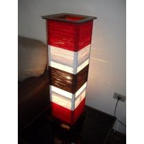 Luminária De Piso 85cm De Altura Vermelho, Preto E Branco