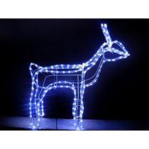 Led Azul Rena De 196 Lampadas Iluminada Decoracao De Natal