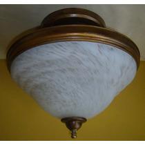 Plafon Com Vidro Murano Branco
