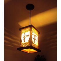 Luminária De Teto Lustre Rustico Ideogramajapones Salaquarto