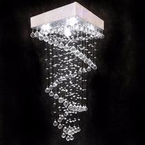 Lustres Cristal Importado 91 Bolas 30mm Base 50x50 Reto