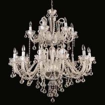 Lustre Luminária De Cristal Pendente De Teto Sala Estar Led
