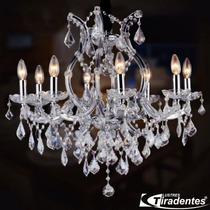 Lustre Cristal -translúcido- 8 Braços - Lustres Tiradentes