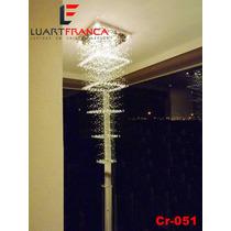 Lustre Em Cristal Asfour Cr-051 De 3 Ou 3,5 Metros De Altura