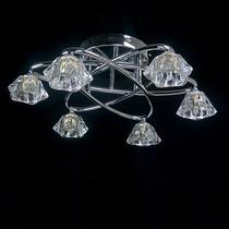 Lustre Susan Metal + Vidro - 6 Lampadas ( + Luz )