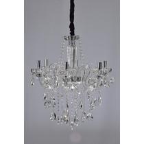 Lustre Cristal Candelabro Maria Tereza 6 Luxo Clear +luz