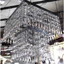 Lustre Sala Em Cristal Acrílico Bolo De Noiva 2 Andares