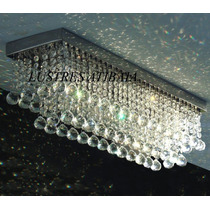 Lustre Em Cristal Asfour Retangular Mega