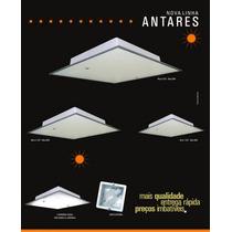 Kit 5 Plafon Antares P 22x22x8cm + 2 Pendentes 3008