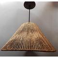 Luminária Rústica Artesanal Cônica Fio De Palha 25x40 Cm