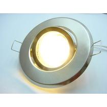 Kit Spot Direcionável Prata + Lampada 20 Leds Branco Quente