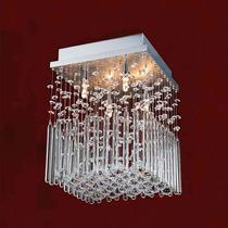 Plafon Quadrado Dany Com Bastão De Cristal 23x23x0,25cm