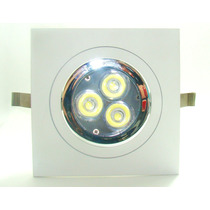 Kit Spot Direcionável+lampada Dicroica Gu-10 3wats Led Sanca