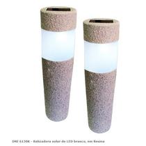 Luminária Balizadora Solar De Led Tipo Poste - Kit / Jardim