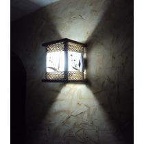Luminária De Parede Arandela Rustica De Corda Artesanal Sala