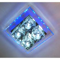 Lustre Cristal 4 Cubos Leds Lee