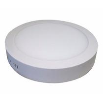 Kit 10x Painel Plafon Redondo Luminária Sobrepor Led 12w