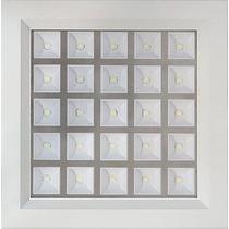 Painel Plafon Luminaria Super Led Embutir 25w Quadrado Gesso