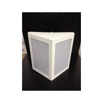 Arandela Triangular Parede Aluminio C/ Acrilico 23,5x23,5x8