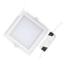 Painel Plafon Vidro Quadrado Luminaria Embutir Led Spot 12w